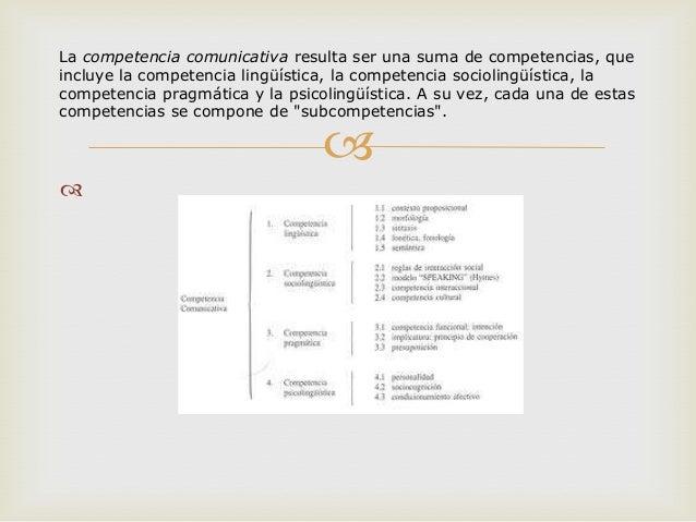 La competencia comunicativa diapositivas Slide 2