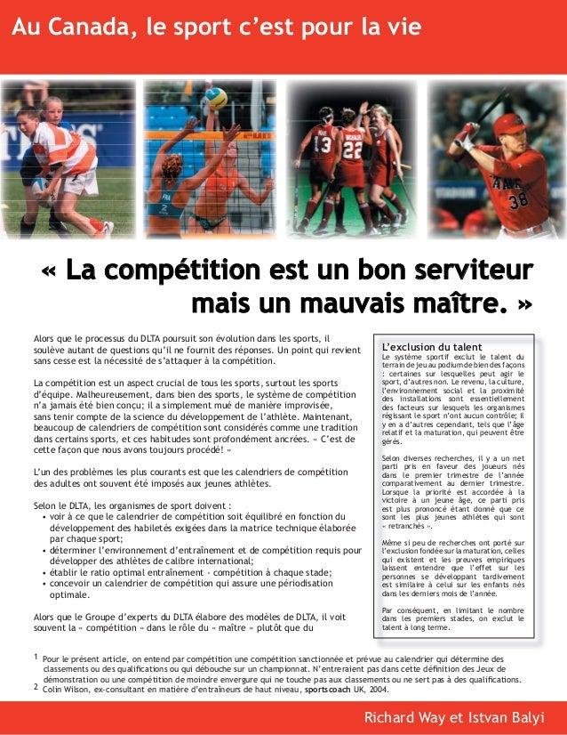 L'exclusion du talent Le système sportif exclut le talent du terrain de jeu au podium de bien des façons : certaines sur l...