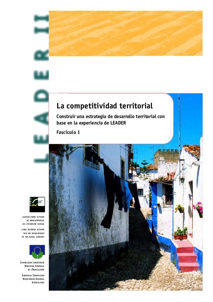 La competitividad territorial                                         Construir una estrategia de desarrollo territorial c...