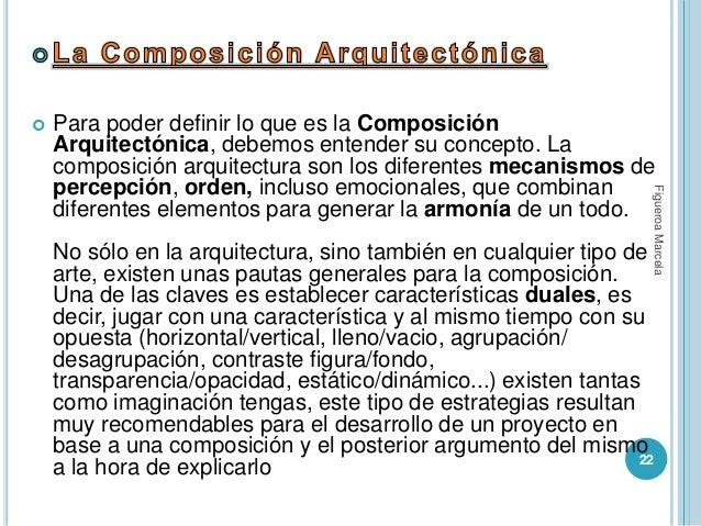 La composicion de la arquitectura for Definicion de estilo en arquitectura