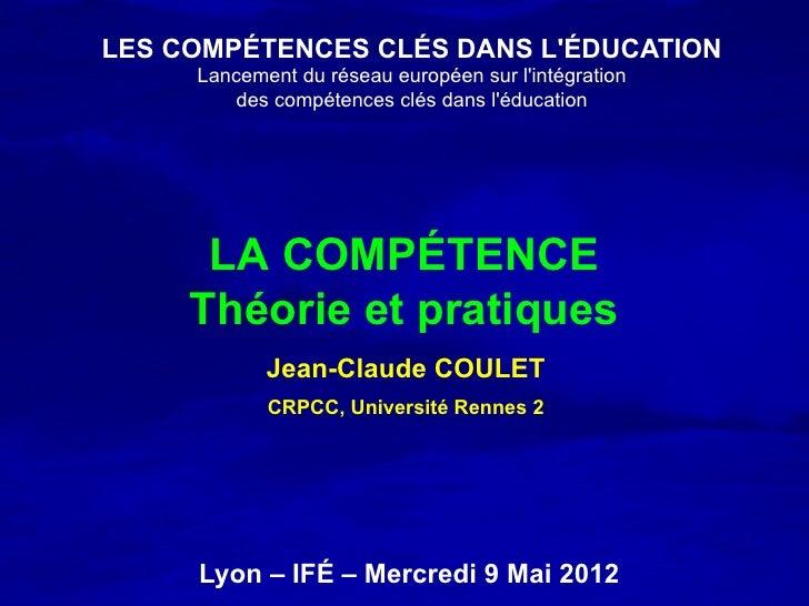 LES COMPÉTENCES CLÉS DANS LÉDUCATION     Lancement du réseau européen sur lintégration        des compétences clés dans lé...