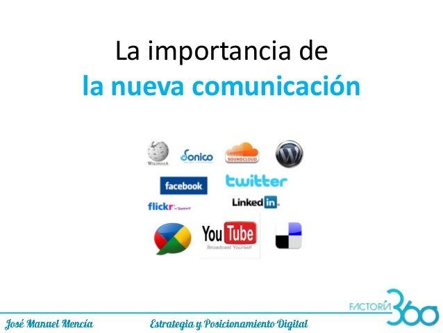 La importancia de la nueva comunicación