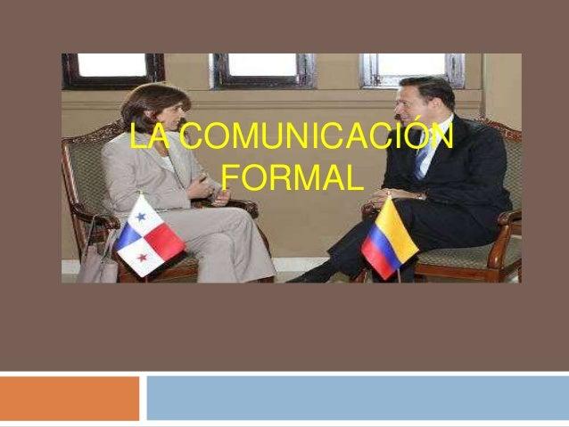 la comunicaci243n formal