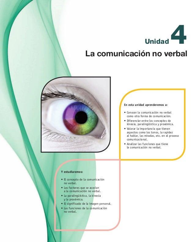 4Unidad En esta unidad aprenderemos a: •Conocer la comunicación no verbal  como otra forma de comunicación. •Diferencia...