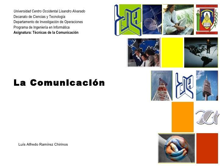 Universidad Centro Occidental Lisandro AlvaradoDecanato de Ciencias y TecnologíaDepartamento de Investigación de Operacion...