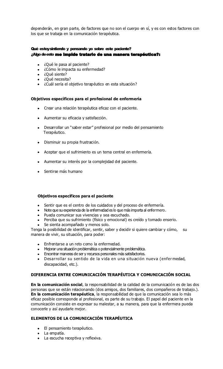 La comunicación terapeutica Slide 2