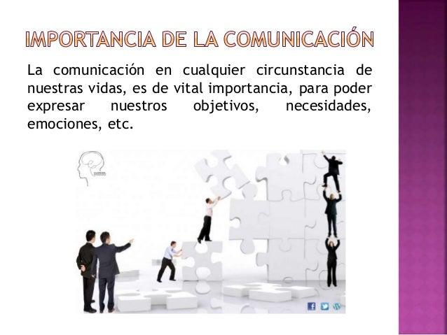 La comunicación en cualquier circunstancia de nuestras vidas, es de vital importancia, para poder expresar nuestros objeti...