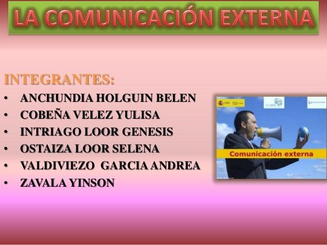 INTEGRANTES: • ANCHUNDIA HOLGUIN BELEN • COBEÑA VELEZ YULISA • INTRIAGO LOOR GENESIS • OSTAIZA LOOR SELENA • VALDIVIEZO GA...