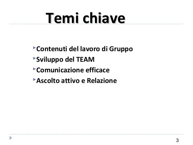 Comunicazione Relazionale Slide 3