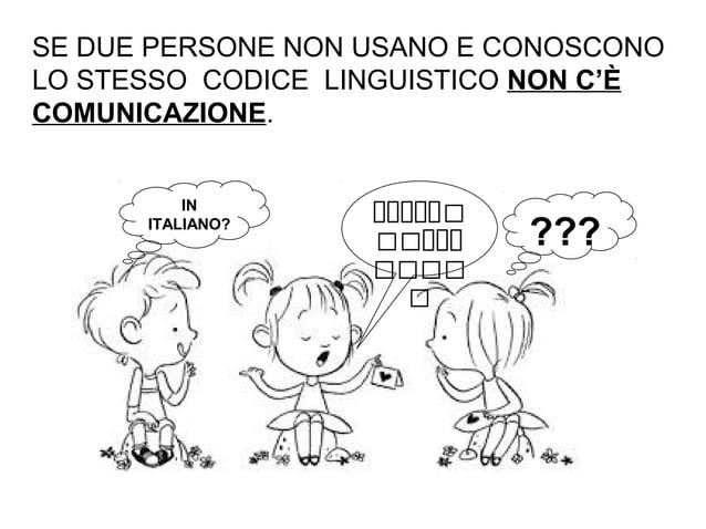 SE DUE PERSONE NON USANO E CONOSCONO LO STESSO CODICE LINGUISTICO NON C'È COMUNICAZIONE. ??? IN ITALIANO? ذححححح ححح...