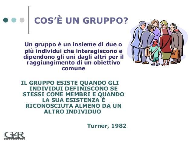 COS'È UN GRUPPO? Un gruppo è un insieme di due o più individui che interagiscono e dipendono gli uni dagli altri per il ra...