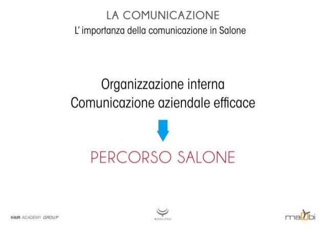 LA COMUNICAZIONE L' importanza della comunicazione in Salone  Organizzazione interno Comunicazione aziendale efficace  PERC...