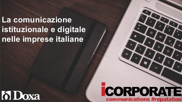 La comunicazione istituzionale e digitale nelle imprese italiane