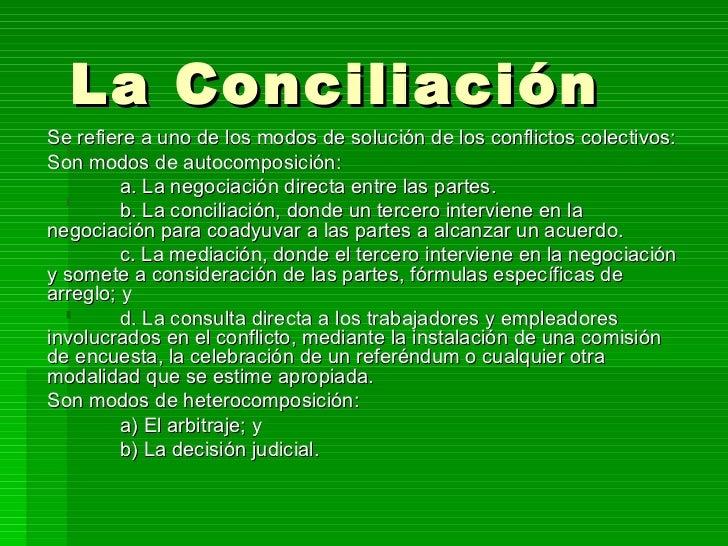 La conciliacion en venezuela