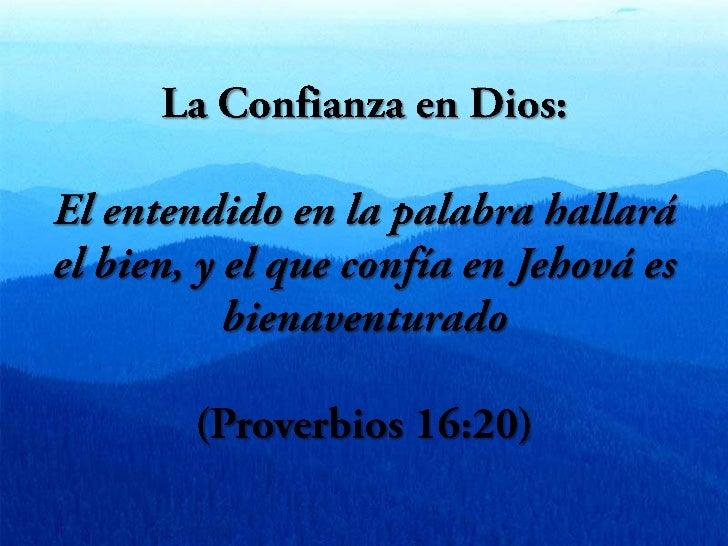 La Confianza en Dios Slide 3
