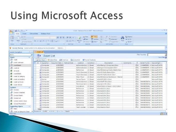 using access for inventory management
