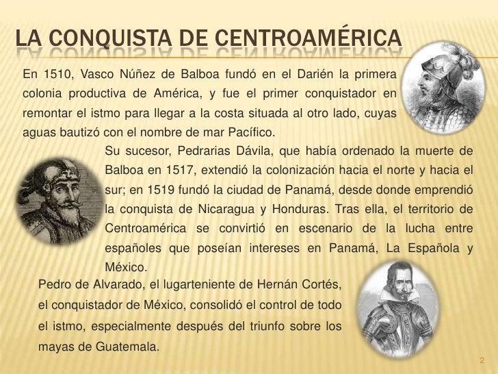 La conquista de centroamerica Slide 2