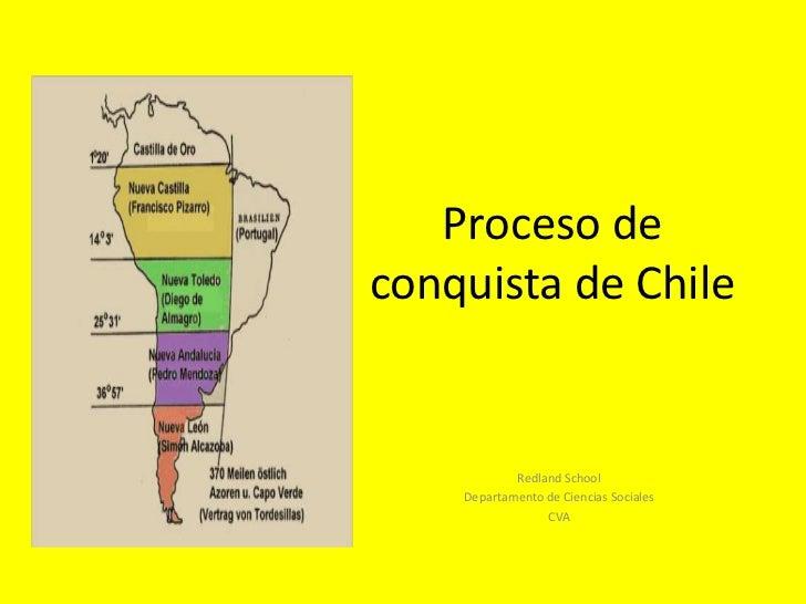 Proceso de conquista de Chile<br />Redland School<br />Departamento de CienciasSociales<br />CVA<br />