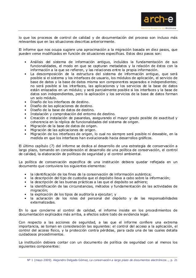 La conservaci n a largo plazo de documentos electr nicos for Procesos de preelaboracion y conservacion en cocina pdf