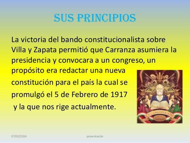 La constitución de 1917 Slide 2