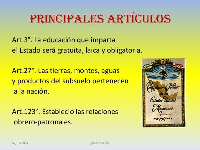 La constitución de 1917 Slide 3