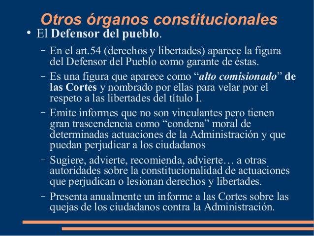 La constitucion de 1978 for Oficina del defensor del pueblo