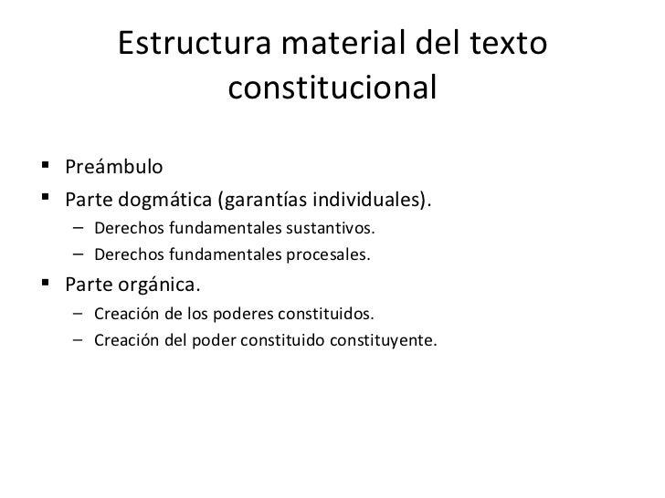 La Constitucion Estructura Y Ppios