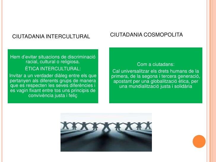 CIUTADANIA COSMOPOLITA<br />CIUTADANIA INTERCULTURAL<br />