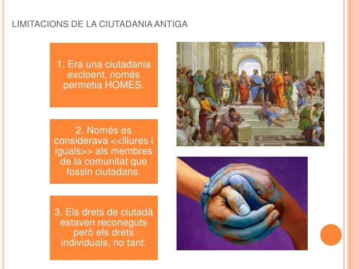LIMITACIONS DE LA CIUTADANIA ANTIGA<br />