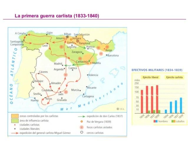 Primera Guerra Carlista Mapa.Tema 3 La Construccion Del Estado Liberal I