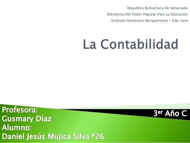 Republica Bolivariana De VenezuelaMinisterio Del Poder Popular Para La Educación  Instituto Diocesano Barquisimeto – Edo. ...