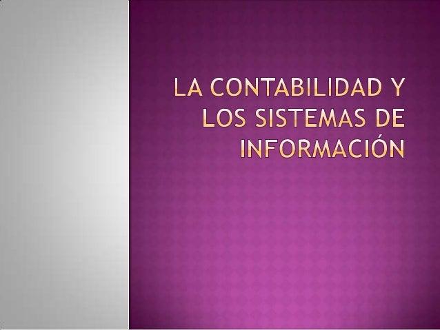 La contabilidad y los sistemas de información