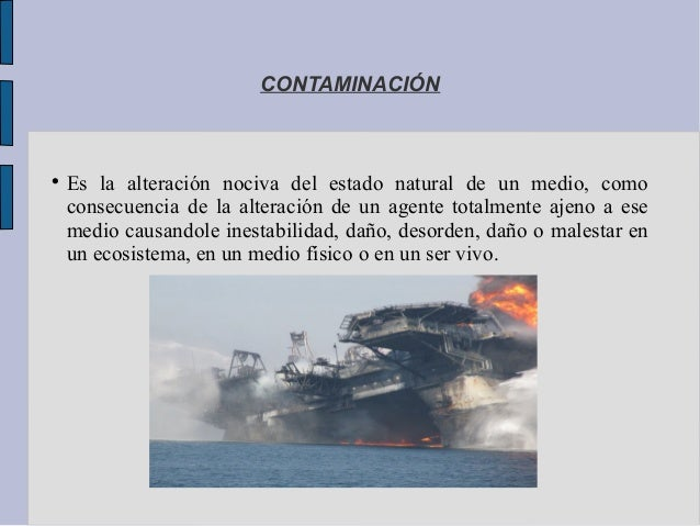 La contaminación ambiental Slide 2
