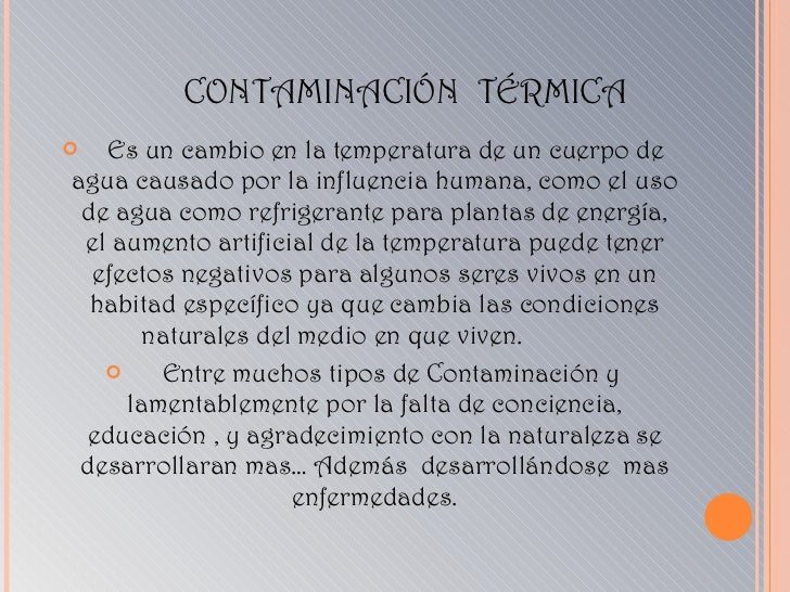 La Contaminacion Diapositivas