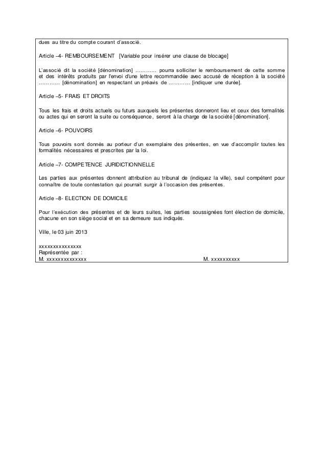 La Convention De Compte Courant D Associes En Droit Marocain