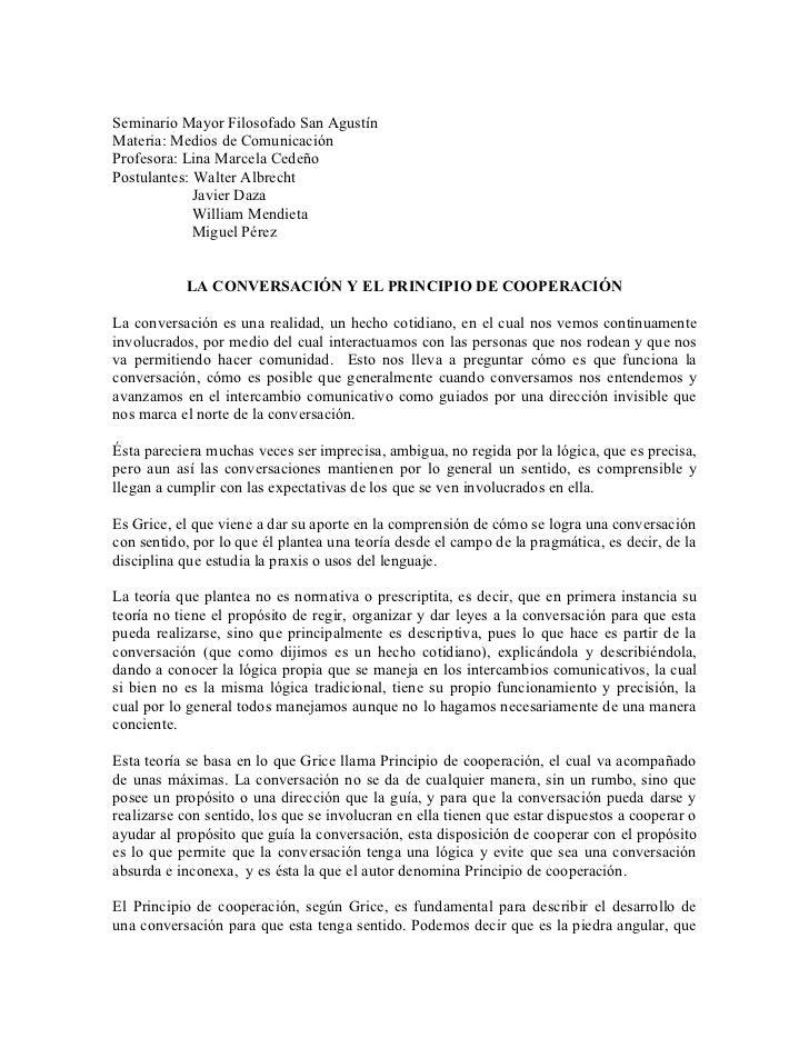 Seminario Mayor Filosofado San AgustínMateria: Medios de ComunicaciónProfesora: Lina Marcela CedeñoPostulantes: Walter Alb...