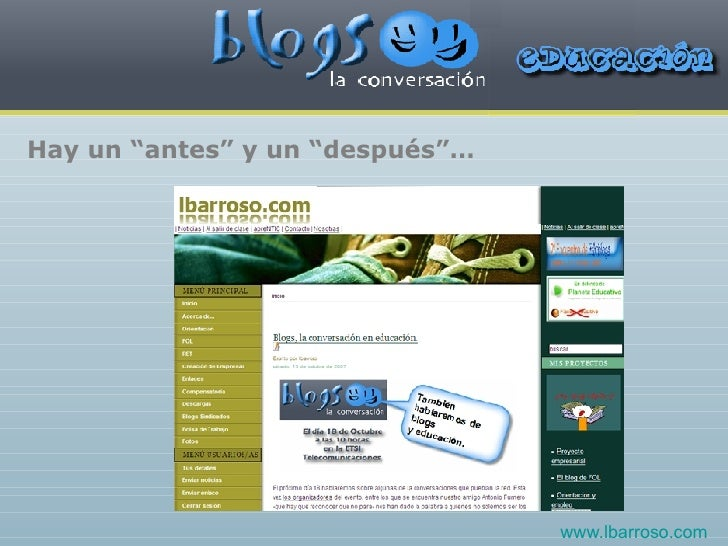 """Hay un """"antes"""" y un """"después""""… www.lbarroso.com"""