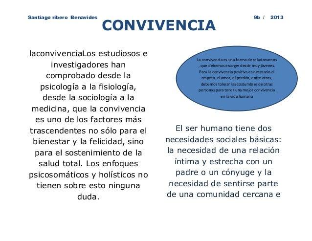 Santiago ribero Benavides                                                9b /      2013                            CONVIVE...