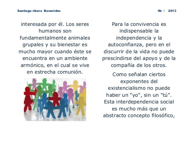 Santiago ribero Benavides                             9b /   2013 interesada por él. Los seres       Para la convivencia e...
