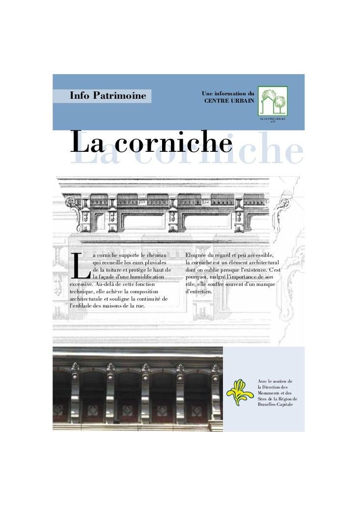 Info Patrimoine                                        Une information du                                                 ...