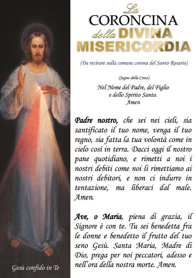(Segno della Croce) Nel Nome del Padre, del Figlio e dello Spirito Santo. Amen Padre nostro, che sei nei cieli, sia santif...