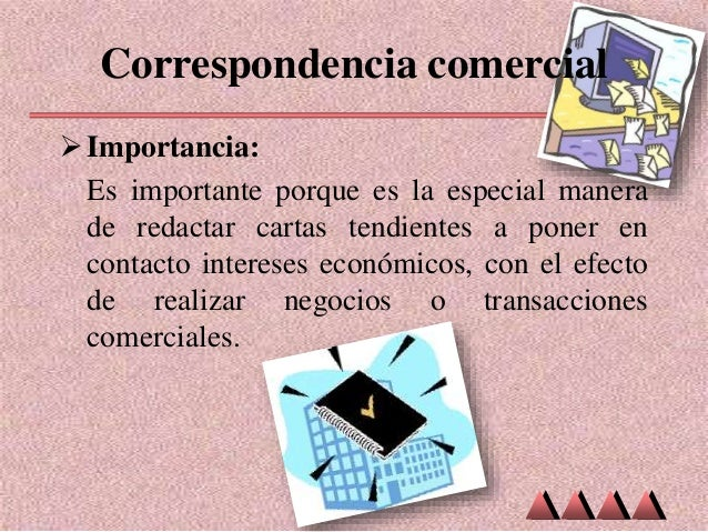 correspondencia de negocios