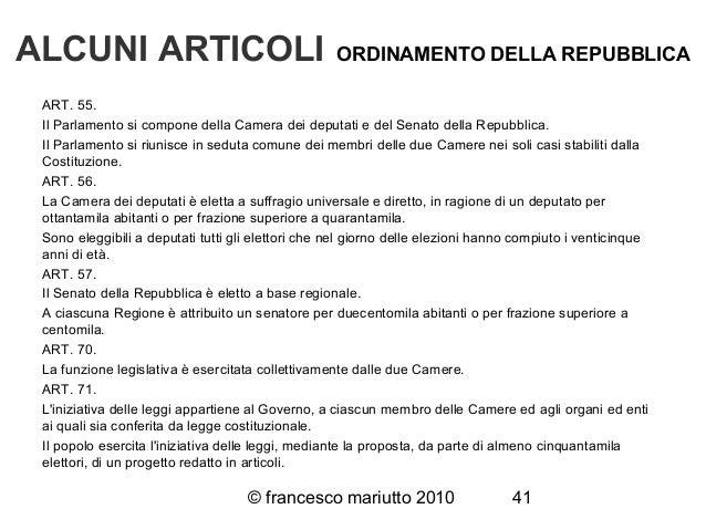 Costituzione italiana for Le due camere del parlamento