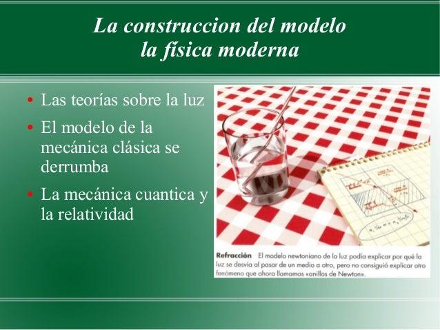 La construccion del modelo                la física moderna●   Las teorías sobre la luz●   El modelo de la    mecánica clá...