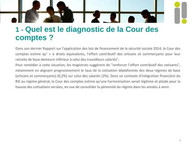 1 - Quel est le diagnostic de la Cour des  comptes ?  Dans son dernier Rapport sur l'application des lois de financement d...