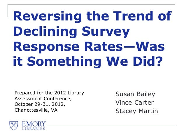 Reversing the Trend of Declining Survey Response Rates: Was it Something We Did?