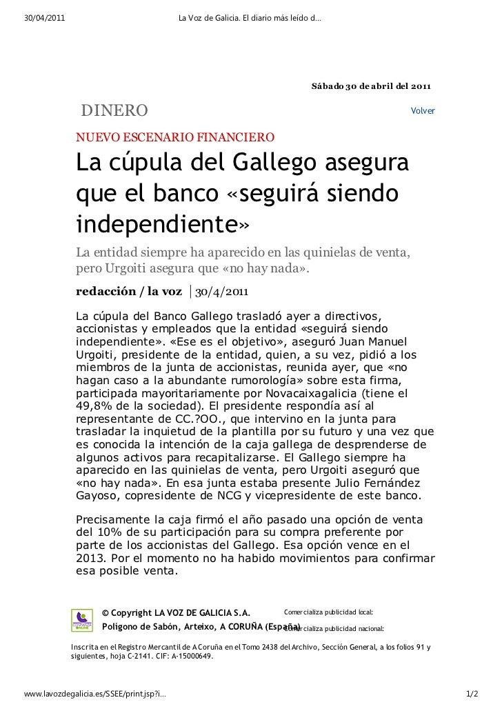 30/04/2011                                   La Voz de Galicia. El diario más leído d…                                    ...