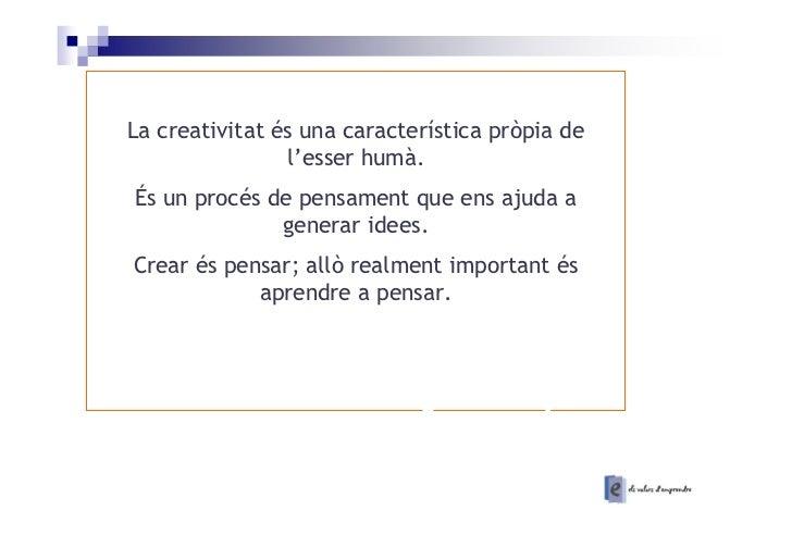 La creativitat apunts Slide 2