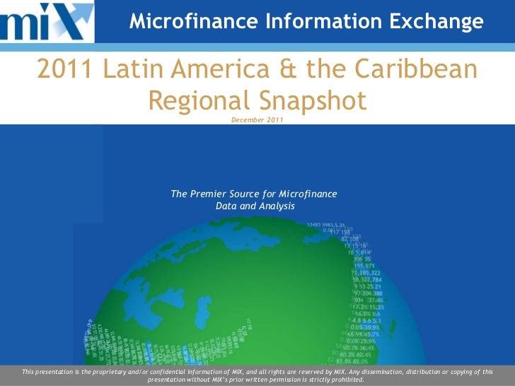 2011 Latin America & the Caribbean Regional Snapshot December 2011