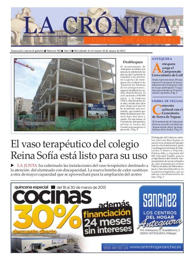 Semanario comarcal gratuito   Número 542   Año X   Del sábado 16 al viernes 22 de marzo de 2013                           ...